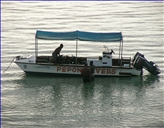 "The diving boat ""Marea"" for 8 divers"
