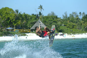 Kite surfing at Mombasa North Coast
